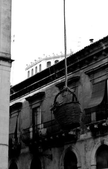 Ambientazione Esterna Architecture Bianco E Nero Blackandwhite Building Exterior Built Structure Catania Centro Storico Di Catania Cestino City Etna Italy Low Angle View No People Outdoors Palazzi Sicily Window