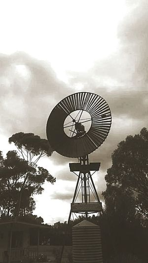 Windmill before the storm Windmills Photography Windmill Storm Clouds Australian Outback