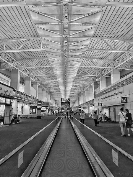 Baiyun International Airport Airport Guangzhou Canton China Interior Blackandwhite Black And White Black & White Blackandwhite Photography Black&white The Architect - 2016 EyeEm Awards