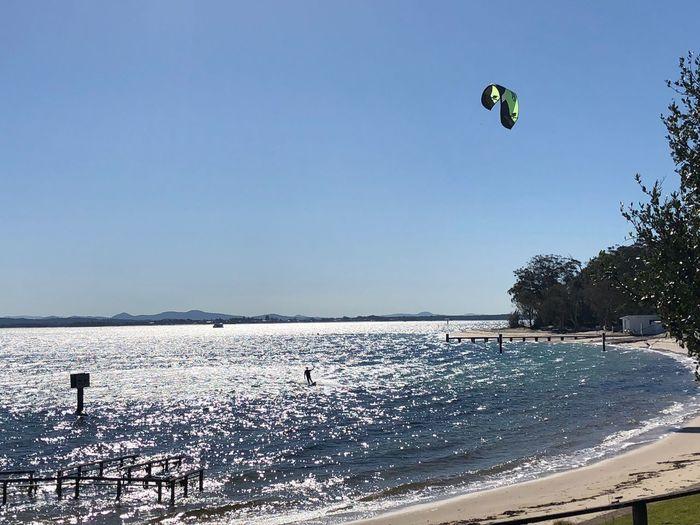 Australia Shoal Bay Water Sky Sport Sea Extreme Sports Nature Adventure Leisure Activity Clear Sky Aquatic Sport Kiteboarding