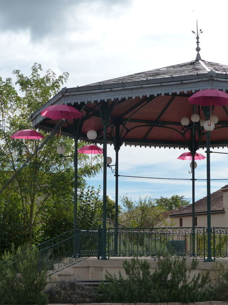 Kiosk Pink Architecture Day Nature No People Outdoors Umbrela