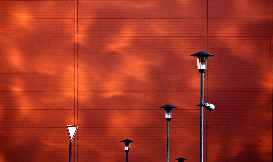 Sign-lantern minimalism City Lantern Lanterns Light Sign Wall Day Glare Glares Lamp Lamps No People Shadow