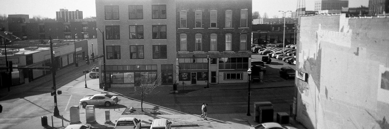 Downtown stroll Building Exterior High Angle View Outdoors Architecture Built Structure Springfield, MO Springfieldmo Missouri 35mm 35mm Film Film Photography Streetphotography Streetphoto_bw Street Photography Bnw_society Bnwphotography Bnw_collection Bnw_captures Blackandwhite Black And White Black & White Bw