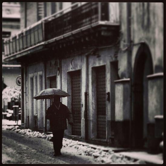 Winter Sicily Stree Photography Black & White