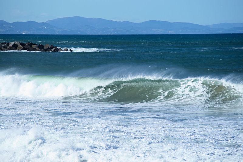 The wave, La Zurriola Beach, Donostia. Beauty In Nature Biscayne Bay Cantabric Sea Day Donostia / San Sebastián Mountain Nature No People Outdoors Scenics Sea Sky Water Wave Zurriola