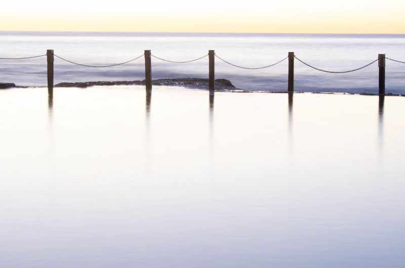 Architecture Beauty In Nature Built Structure Copy Space Day Horizon Horizon Over Water Nature No People Outdoors Railing Scenics - Nature Sea Sky Tranquil Scene Tranquility Water Waterfront