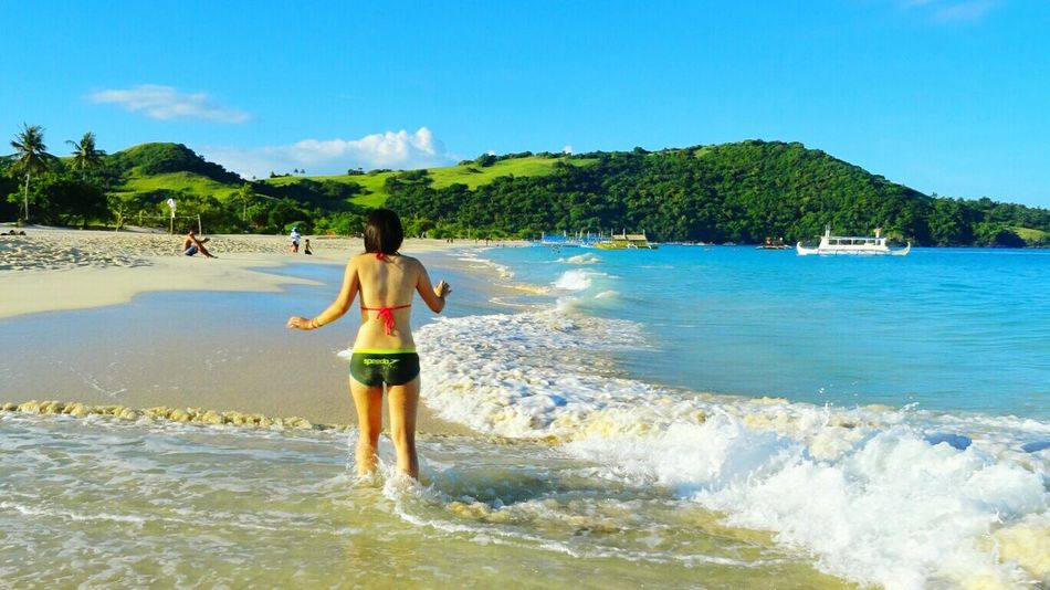 That perfect sun, beach and wave. LOCATION - CALAGUAS ISLAND - CAMARINES NORTE - PHILIPPINES Eye4photography  Eyeem Philippines Beach Beachlife Summer Calaguas OpenEdit Travel EyeEm Nature Lover