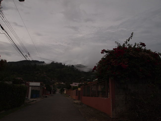 Costa Rica EyeEmNewHere Architecture Cloud - Sky Gray Gray Background Monteverde No People Sky Street The Way Forward Town