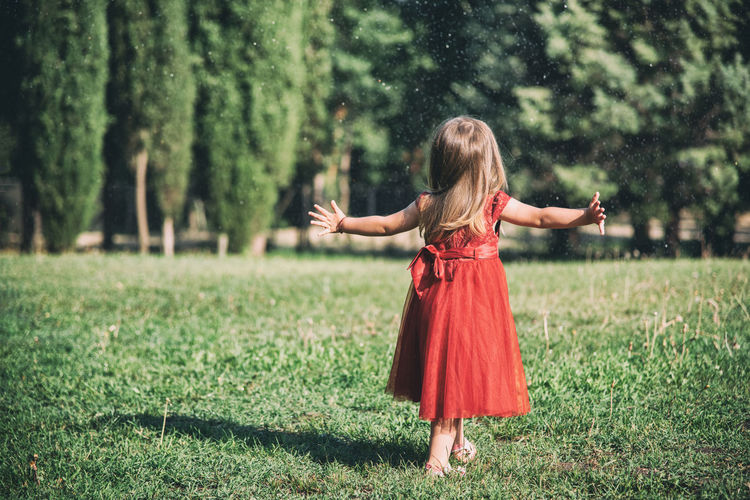 Dress EyeEmNewHere Kids Kids Being Kids Kids Playing Red Dress Reshovski Beauty In Nature Child Child Photography Fashion Fashion&love&beauty Grass Innocence Kid Kids Having Fun Kids Photography Kidsphotography Land Nature Outdoors Park Playground Playing