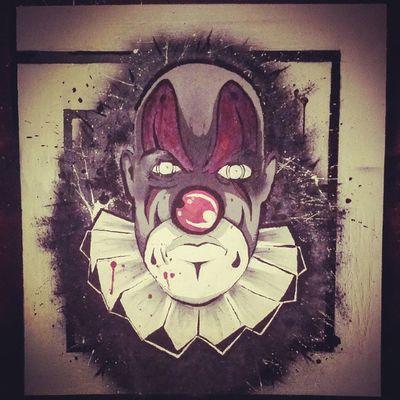 Scarry Clown 3w Mienio graffiti rap ilustration gesiu prze