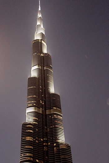 Burj Khalifa Tallestbuilding Amazing View Bynight Night Lights