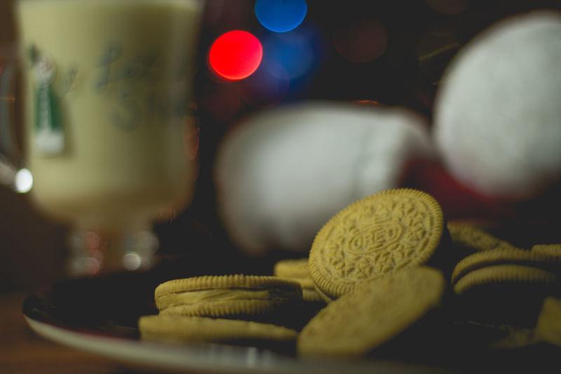 cookies for Santa Oreo EyeEm Selects Santa Snack Snack Food Milk Egg Nog Eggnog Treat Bokeh For Santa Santa's Treat Santa's Holidays Christmas Santa's Hat Night Before Christmas Christmas Tree Christmas Bokeh Background Cookies For Santa Indoors  No People Night Close-up