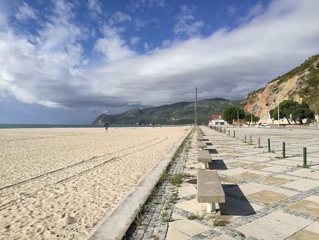 Sand Horizontal Landscape Outdoors Cloud - Sky Sky Day No People Empty Places Empty Beach Capturedonp9 HuaweiP9 No People Oo Figueirinha Setúbal Portugal Tranquility Beach Scenics Beachphotography TakeoverContrast Travel Destinations