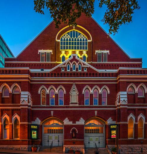 Nashville Nashville TN Ryman Auditorium