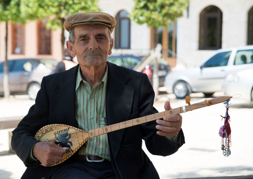 Albania Durres Albania Kruje Music Musical Instrument Musician Old Old Man