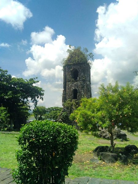 CagsawaChurch Cagsawa Ruins Tree History Built Structure Cloud - Sky Building Exterior Green Color Architecture No People Day Outdoors Grass Sky Nature
