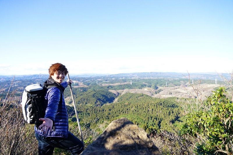beautiful!!. ゴープロ 山頂 ポートレート 登山 Sky Real People One Person Leisure Activity Beauty In Nature Clear Sky Nature