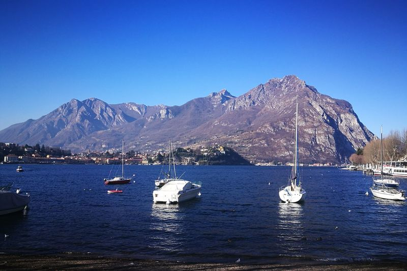 Mountain Blue Water Mountain Range Beauty In Nature No People Landscape Sky Day Tranquility Huawei P9 Leica HuaweiP9 HuaweiP9Photography Lake Of Como, Lecco Nature Italy