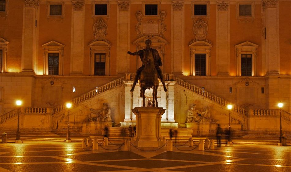Arches Colluseum Culumns Forum Italy Lights Night Nightphotography Rome Statue Triumphant Arch