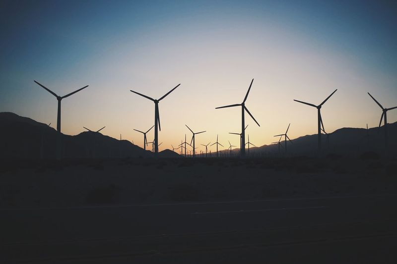 Sunset Sky Alternative Energy Wind Turbine Renewable Energy Turbine Environmental Conservation Wind Power