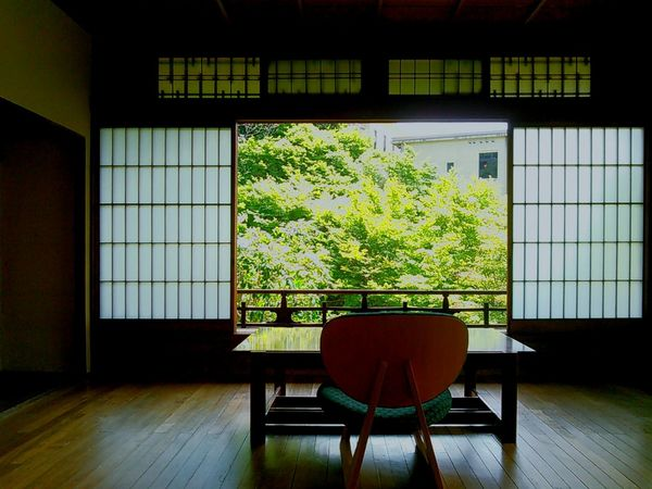 2階の角部屋。眺望が素晴らしい。 京都 Kyoto 京の夏の旅 ノートルダム女学院 Notre Dame School 和中庵 建築 Architecture 和洋折衷