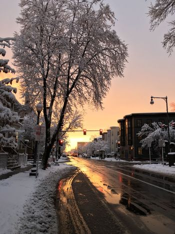Snow Sunset Cityscapes NewEnglandWinter