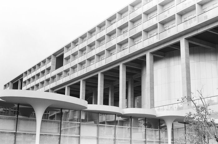 35mm Film AgfaPhoto APX 400 (new) Architecture B&w Arhitecture B&W Collection Full Frame Glass - Material Low Angle View Modern Nikon Fm2 Pattern Structure Taipei Taiwan Toyo Ito The Purist (no Edit, No Filter) Urban 國立臺灣大學 National Taiwan University