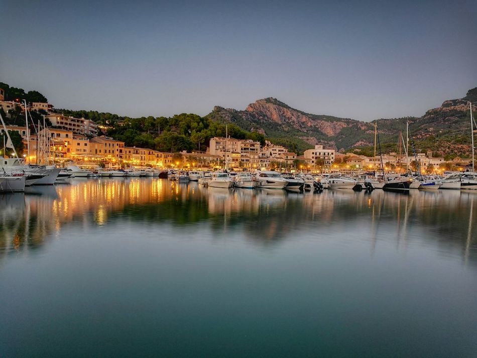 House No People Sea Mountain Outdoors Water Night Nature Sky Harbour Holiday Travel Mallorca Night View Ship Boat Sailboat Sundown SPAIN TravelDestinations Evening Soller, Mallorca Port Long Exposure An Eye For Travel