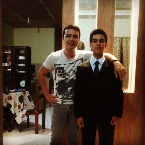 This is my little brother now :D getting taller huh. Brotherlylove Brother Kuya PromNight eversupportive everpogi