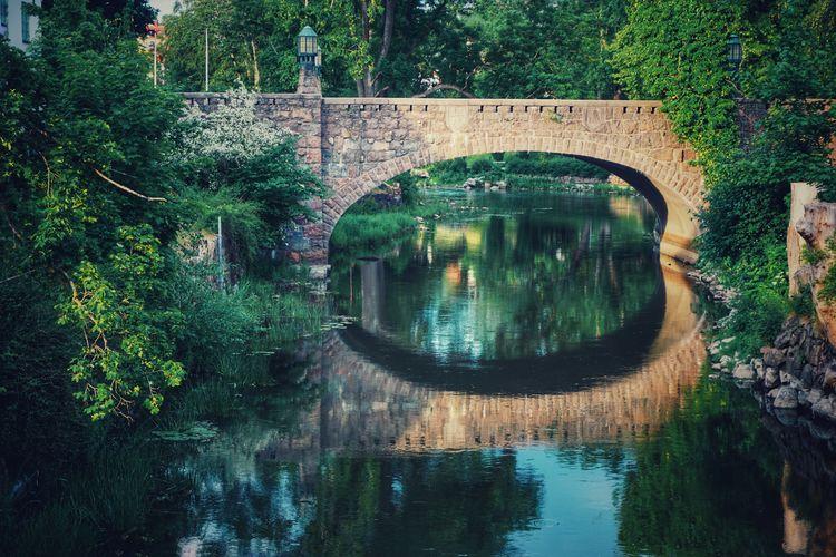 Famous Landmark Stone 2019 Niklas Storm Juni Bridge Tree Water Reflection Standing Water Calm