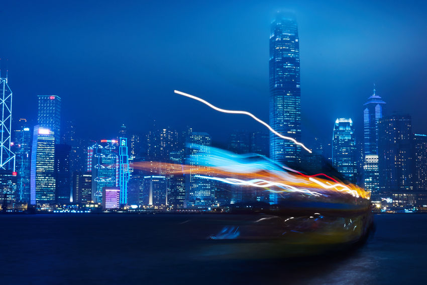 Color Explosion Victoria Harbour Hong Kong Traveling
