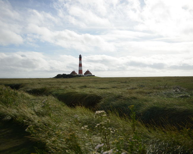 Rural lansdcape with lighthouse