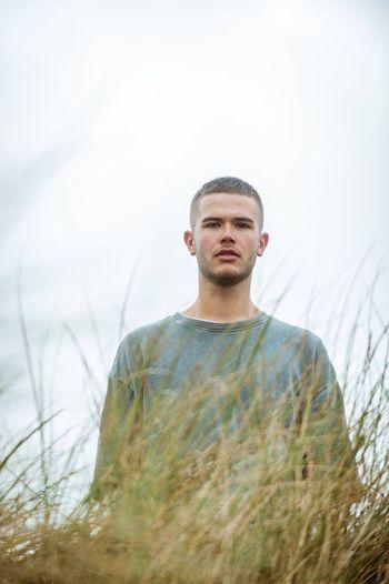 Dan One Man Only People Portrait Outdoors Grass Men Model Fur Winter Fashion Wales Headshot Portrait Of A Friend