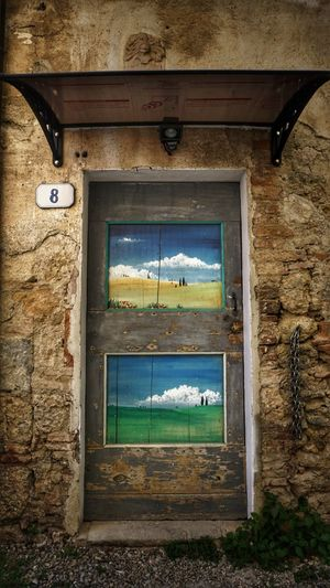 Art Is Everywhere Architecture Window Door Built Structure No People Day Indoors  Close-up The Secret Spaces Beautiful Tuscany Tuscany Authentictuscany