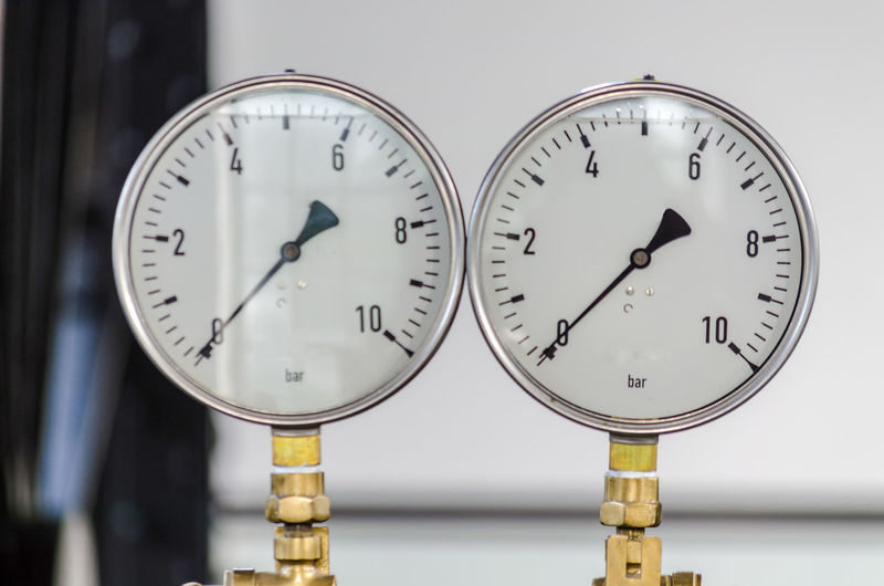 Close-up of gauges