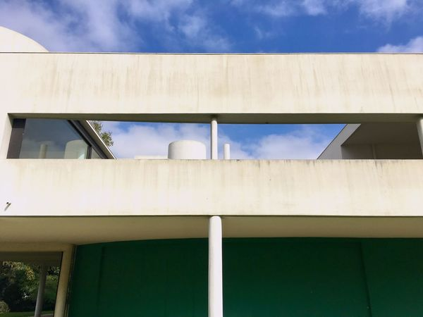 Architecture Low Angle View Built Structure Cloud - Sky Building Exterior Day Sky No People Outdoors Lecorbusier Villasavoye Modernism