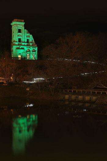 博物館明治村 川崎銀行本店 明治村 川崎銀行本店 ライトアップ Night Reflection Illuminated No People Outdoors Building Exterior