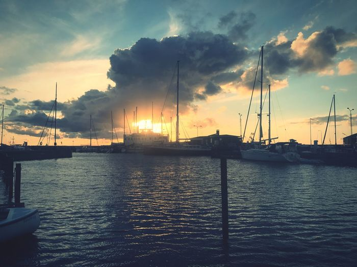 Sunset Harbor Cloud - Sky Tranquility Sea Nature Summer Vacations EyeEm Best Shots EyeEm Nature Lover Boat