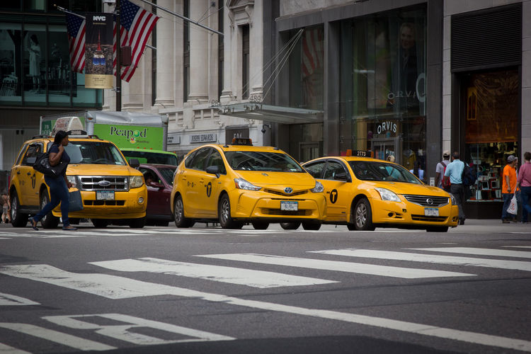 NYC Yellow Cab Traveling Home For The Holidays