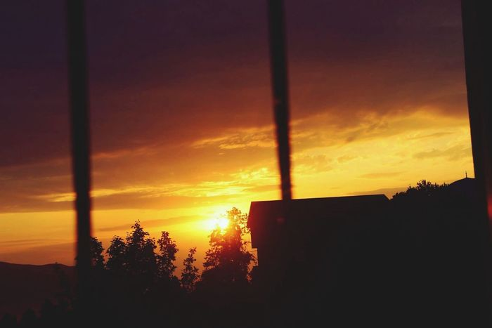 Sunset My Village Balcony Peace