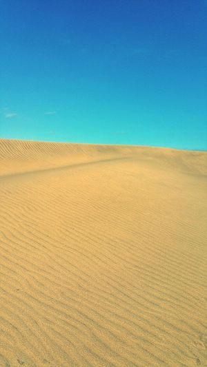 SPAIN Blue Clear Sky Rural Scene Sand Yellow Sky Landscape Sand Dune Desert