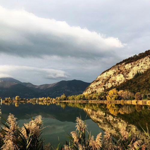 Riserva Naturale Torbiere del Sebino Cloud - Sky Sky Water Mountain Scenics - Nature Beauty In Nature Nature Tranquil Scene Tranquility Lake No People Non-urban Scene Reflection