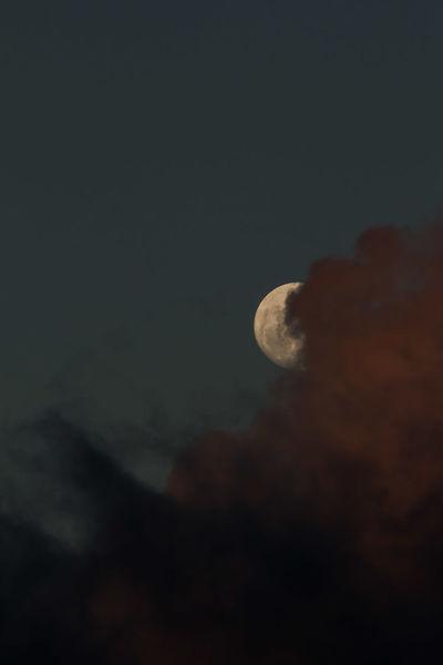 Hiding moon Sky Sky And Clouds Moon Moon Surface Moon And Clouds The Moon Space Luna La Luna