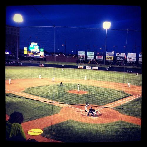 Having Fun Baseball Night Lights Sport