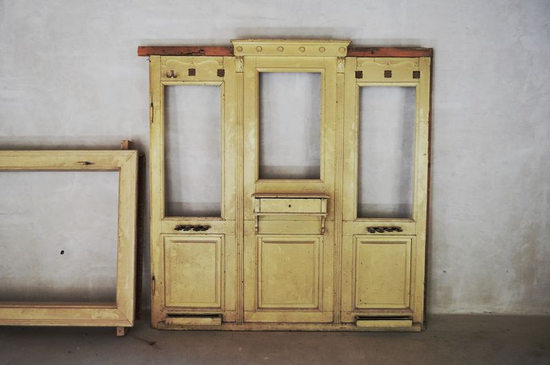 Bad Condition Old-fashioned Repairing Architectural Feature Architecture Built Structure Door Entrance House No People Old Open Protection Wall - Building Feature White Color Window Wood - Material