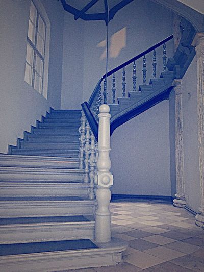 Stairs Staircase Steps And Staircases Steps Architecture Railing Built Structure Architectural Column Spiral No People Indoors  Day Spiral Staircase Marble Stairs Marble Marbledstone Old Stairs Old Buildings Old Interior Blue