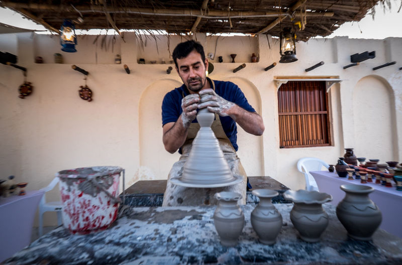 Katara Cultural Village Qatar Doha,Qatar Cultures Culture Hertitage Travel Tourism Arab Gulf Skill  Working Business Potery Handcraft Handmade Potery Simple