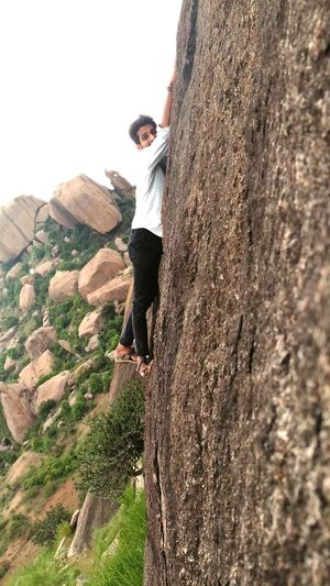 Hello World Thats Me  on Slide Rock Full Length Leisure Activity Standing agans Gravity One Person Casual Clothing Outdoors With Nature Standing Mountain Grass Space Scenics Eyem Nature Lovers  First Eyem Photo Today's Hot Look Beauty Rethink Things