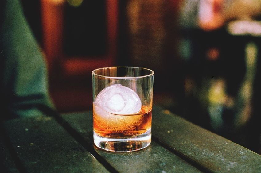 Whiskey On the Rocks Pentaxspotmatic Filmisnotdead Filmphotography Film Cup Drink Whiskey Drink Table Alcohol Refreshment Focus On Foreground Drinking Glass Food And Drink EyeEmNewHere