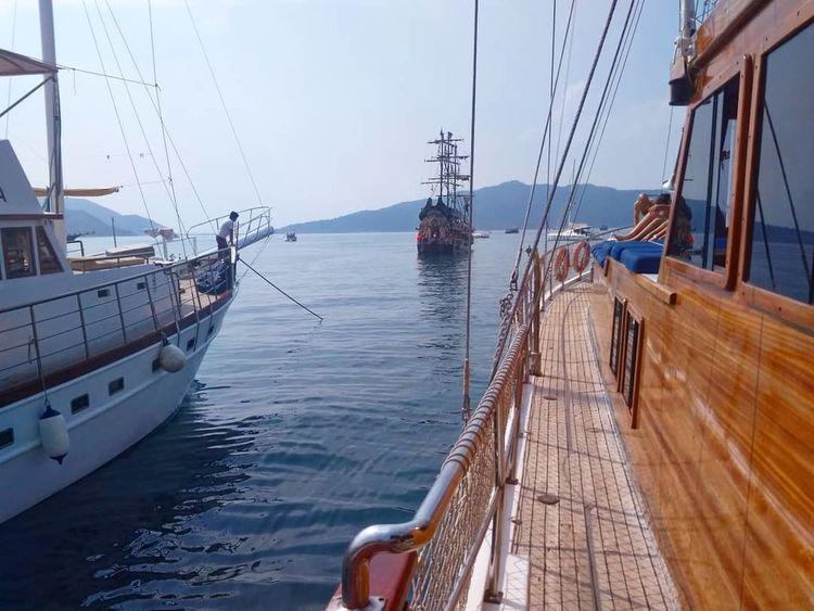 Let's go ! Sailing Ship Tall Ship Water Nautical Vessel Mast Sea Harbor Sailboat Moored Sailing Marina Horizon Over Water Passenger Ship Calm Sunset Ocean Wave Seascape Ship